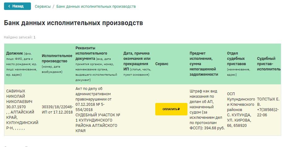 Савиных Николай Николаевич исполнительное производство